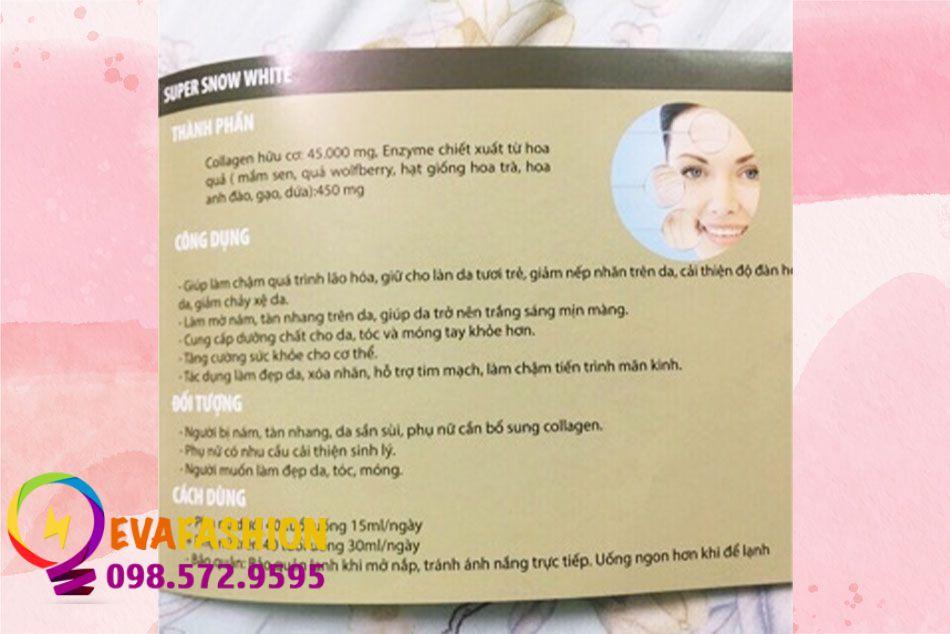 Thông tin sản phẩm Snow White Collagen