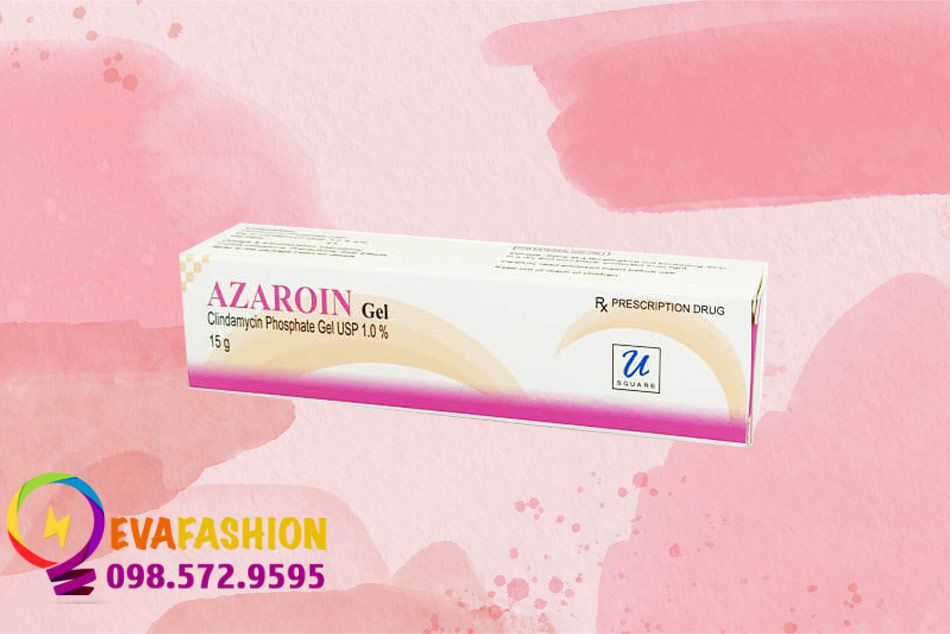 Hộp Azaroin Gel Clindamycin Phosphate trị mụn