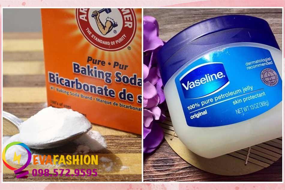 Kết hợp Vaseline và Baking soda