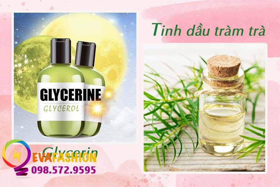 Kết hợp Glycerin và tinh dầu để trị mụn