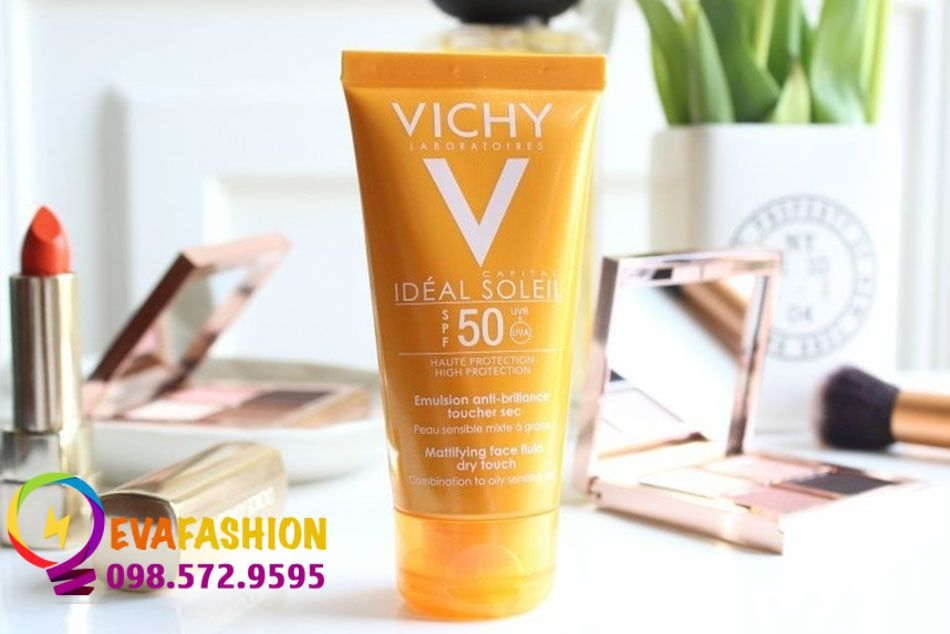 Kem chống nắng Vichy SPF50 PA+++ Ideal Soleil Mattifying Face Fluid Dry Touch