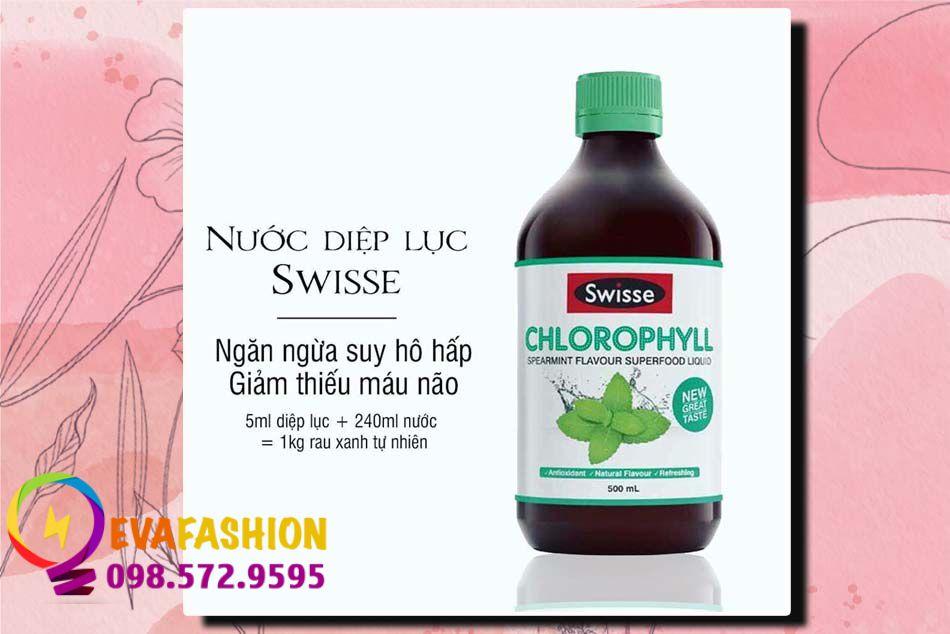 Nước diệp lục Swisse Chlorophyll Spearmint