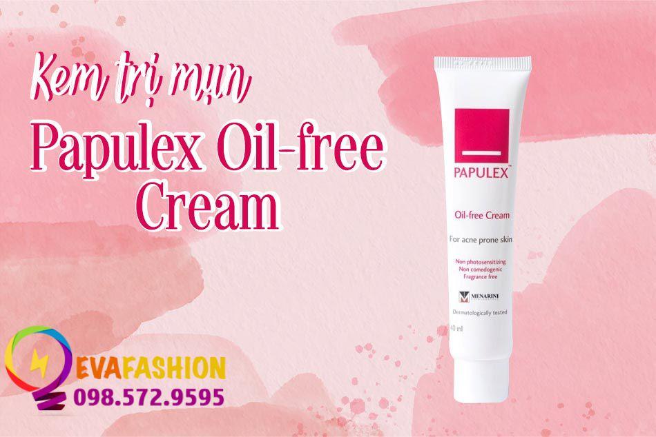 Kem giảm nhờn, trị mụn Papulex Oil-free Cream