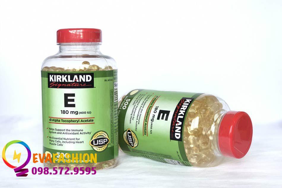 Lọ Vitamin E Kirkland của Mỹ đang được ưa chuộng trên thị trường