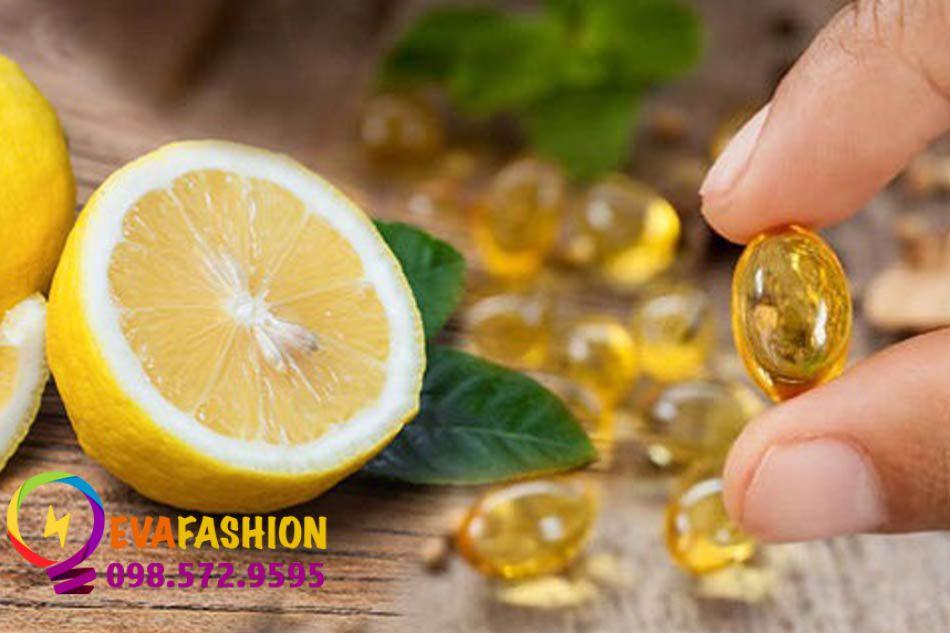 Sử dụng chanh và vitamin E giúp trị sẹo rỗ