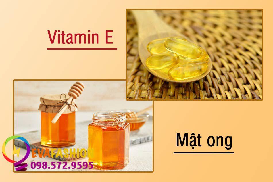 Dùng mật ong và Vitamin E trị sẹo