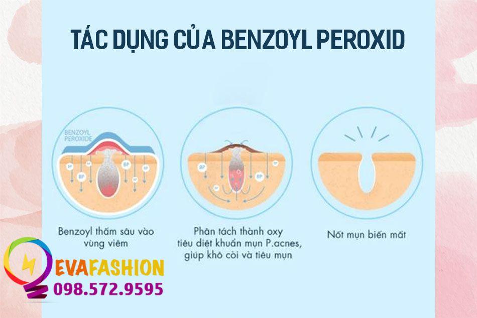 Benzoyl Peroxide có tác dụng gì với da?