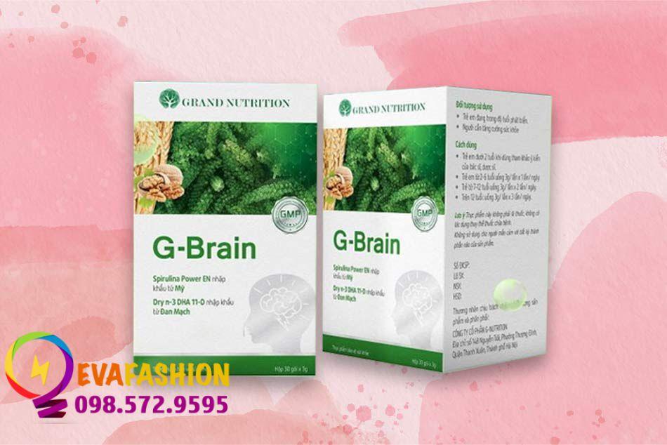 Hình ảnh hộp sản phẩm Cốm trí não G-Brain