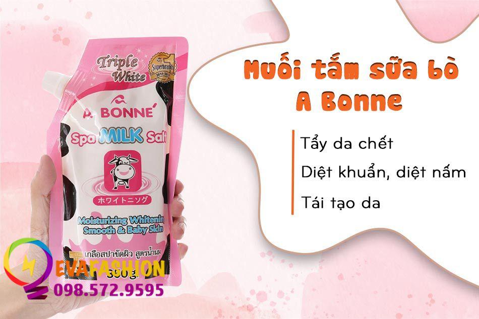 Muối tắm sữa bò A Bonne có tác dụng gì?