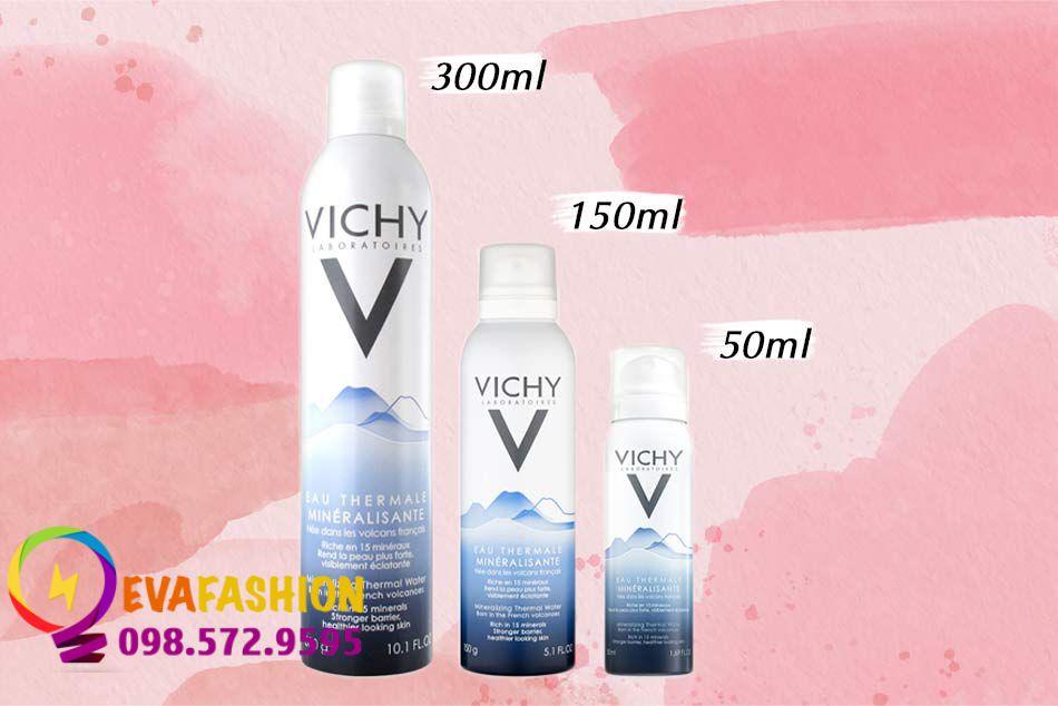 Xịt khoáng Vichy 50, 150 và 300ml