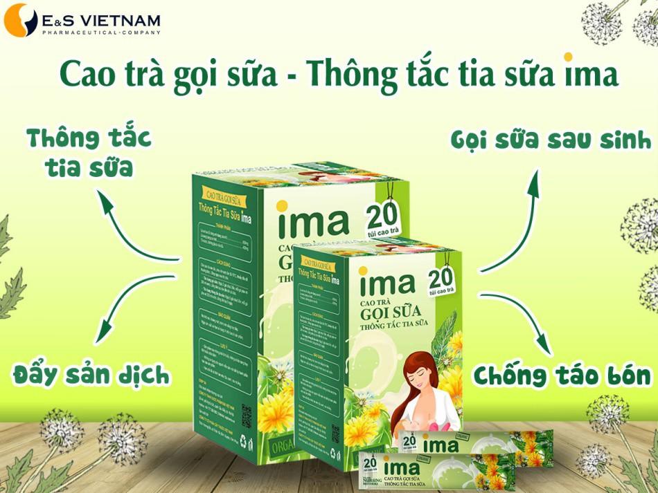 Cao trà gọi sữa IMA - Thông tắc tia sữa IMA có tác dụng tuyệt vời với sản phụ sau sinh