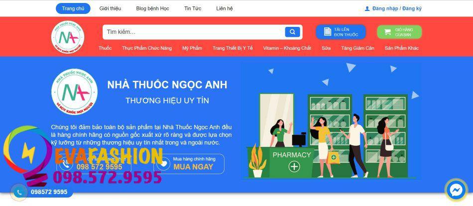 Trang web online của nhà thuốc Ngoc Anh